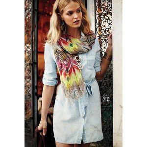 cloth & stone chambray ikat print adalie dress